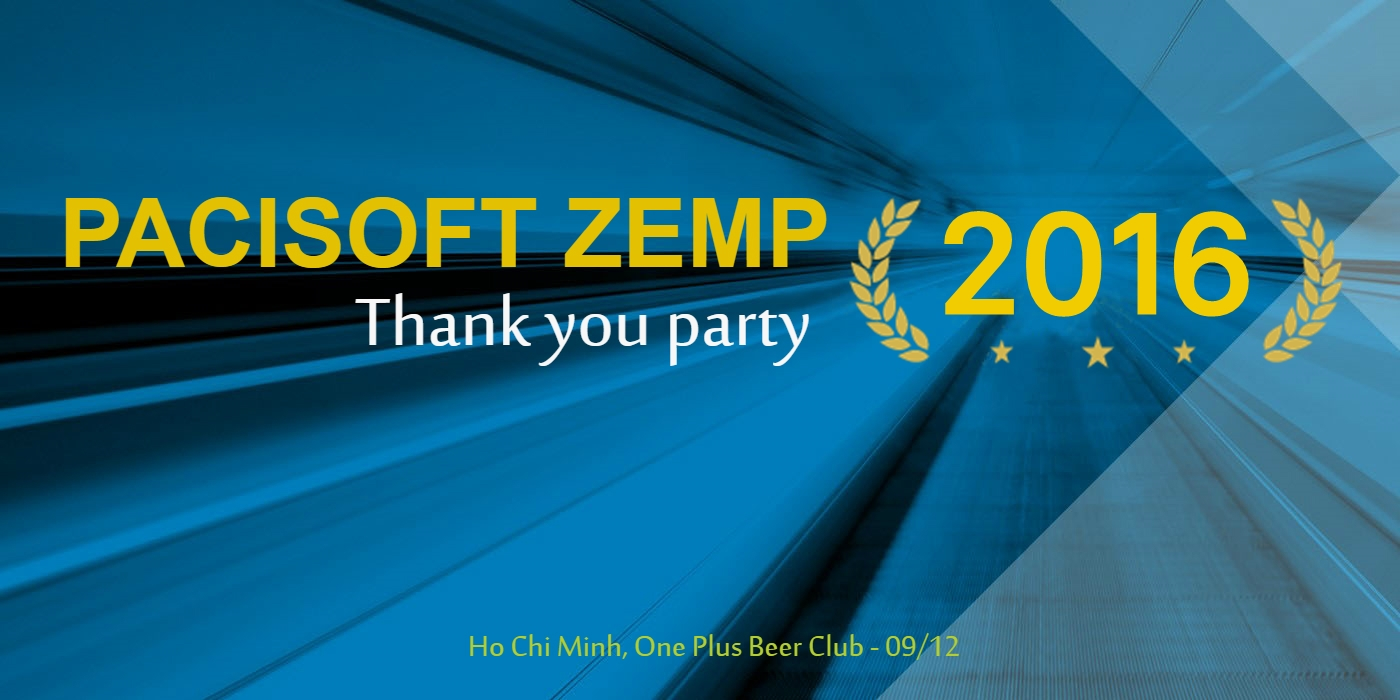 PACISOFT ZEMP 2016 - Thank you party