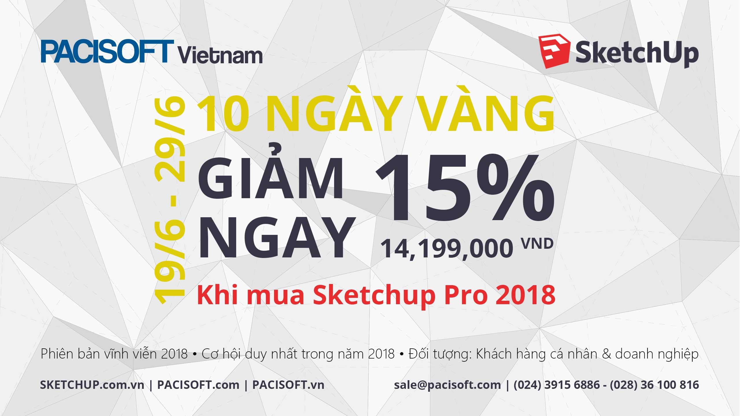 SketchUp Pro khuyen mai