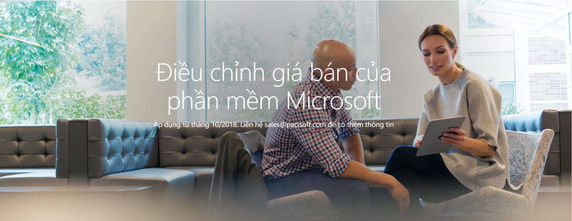 Tăng giá bán phần mềm Microsoft